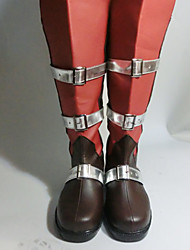Cosplay Boots Final Fantasy Munja Anime Cosplay Shoes Crna / Crvena PU Leather Female