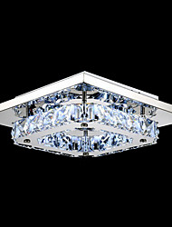 cheap -UMEI™ LED Crystal Flush Mount, 1 Light, Modern Transparent Electroplating Stainless Steel
