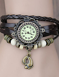 cheap -Women's Bracelet Watch Hot Sale PU Band Bohemian / Fashion Black / Blue / Red