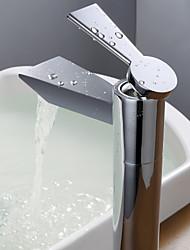 Moderne Vasque Soupape céramique 1 trou Mitigeur un trou for  Chrome , Robinet lavabo