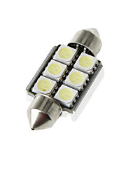 37mm 6 5050 SMD LED Canbus White Car Interior Dome Festoon Light Lamp Bulb