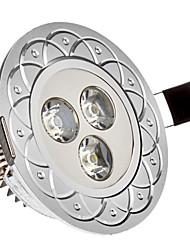 billige -285 lm Innfelt lampe 3 LED perler Høyeffekts-LED Kjølig hvit 85-265 V