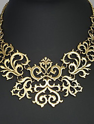 Women's Statement Necklaces Flower Alloy Vintage European Costume Jewelry Jewelry For Party Anniversary Birthday Congratulations Thank
