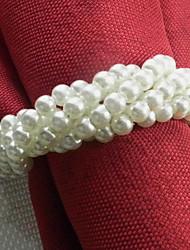 Forme Bracelet Acrylique Serviette, Dia4.2-4.5cm Ensemble de 12, couleur aléatoire