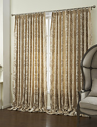 cheap -Two Panels Curtain Country Bedroom Polyester Material Curtains Drapes Home Decoration For Window