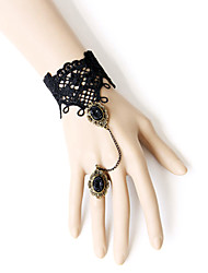 Lolita Jewelry Gothic Lolita Ring Victorian Lolita Accessories Bracelet Ring Lace For Lace Alloy Artificial Gemstones