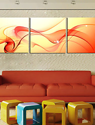 cheap -Stretched Canvas Print Canvas Set Abstract Three Panels Horizontal Print Wall Decor Home Decoration