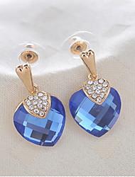 Orecchini di elegante della lega d'oro con strass e cristallo Donne