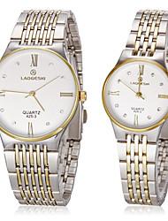 Women's Dress Watch Fashion Watch Wrist watch Simulated Diamond Watch Quartz Imitation Diamond Stainless Steel Band Gold