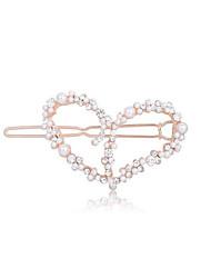Women's Rhinestone Alloy Imitation Pearl Headpiece-Wedding Special Occasion Casual Barrette