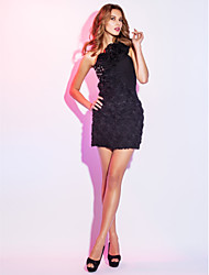 Sheath / Column One Shoulder Short / Mini Chiffon Cocktail Party Holiday Dress with Beading by TS Couture®