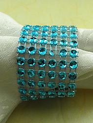 Cristal Guardanapo Anel Conjunto de 6, Dia Acrílico 4,5 centímetros