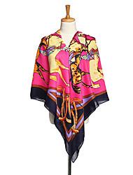 Lafusoku Kvinders Grain Cotton Square Fuchsia tørklæde 114020B