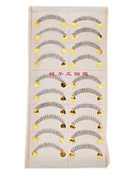 Hand-made Natural False Lower Eyelashes 020# Cosmetic Beauty Care Makeup for Face
