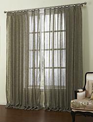 baratos -neoclássicos dois painéis sólidos marrom sala de estar cortinas de linho pura shades