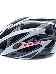 cheap -MOON Adults Bike Helmet 25 Vents CE Impact Resistant EPS, PC Sports Road Cycling / Cycling / Bike / Mountain Bike / MTB - Black / White Men's / Women's