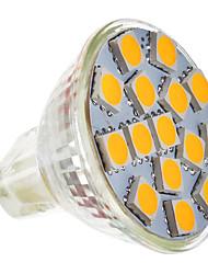 2W GU5.3(MR16) Faretti LED MR11 15 SMD 5050 180-220 lm Bianco caldo 2800-3200 K AC 12 V