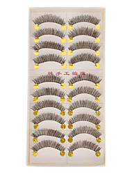 Hand-made Natural False Upper Eyelashes 162