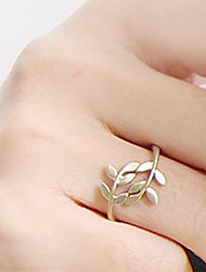 cheap -Women's Statement Ring - Alloy Leaf Simple Style, Fashion One Size Gold / Silver For Party / Daily / Casual