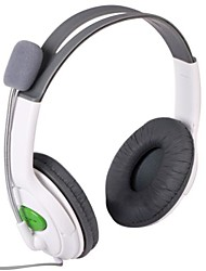 Elegante Stereo Headset Headphone para XBOX 360 - Branco (2,5 mm Plug / 100cm)