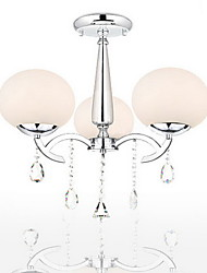 Chandelier ,  Modern/Contemporary Electroplated Feature for Crystal Metal Living Room Bedroom Dining Room