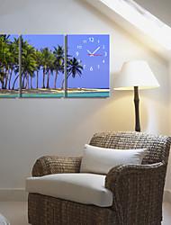 Недорогие -Страна Стиль Кокосовая пальма Часы в Canvas 3шт