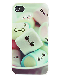 cheap -Lovely Cartoon Marshmallow Pattern Matte Designed PC Hard Case for iPhone 4/4S