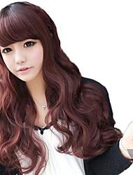 Side Bang sintetiche ondulate lunghe parrucche 3 colori disponibili