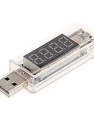 Недорогие -напряжение и ток детектор с портом USB (прозрачный белый)