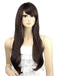 Woman Wavy Lovely Long Side Bang Synthetic Wigs Heat Resistant Fiber Cheap Cosplay Party Wig Hair