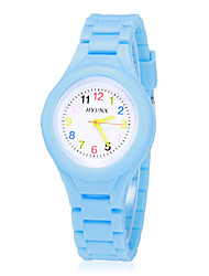 cheap -Children's Colorful Dial Bright Color Silicone Band Quartz Analog Wrist Watch (Assorted Colors) Cool Watches Unique Watches Strap Watch