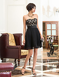 cheap -A-Line Sweetheart Short / Mini Chiffon Lace Cocktail Party Homecoming Holiday Dress with Ruching by TS Couture®