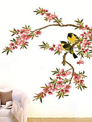 Rose Oleander Magpie Removable Wall Sticker