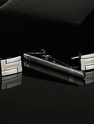 Gift Groomsman Personalized Men's Gifts Cufflinks and Tie Clip Sets