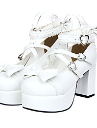 cheap -Lolita Shoes Sweet Lolita Princess Platform Shoes Bowknot 8 CM For PU Leather/Polyurethane Leather