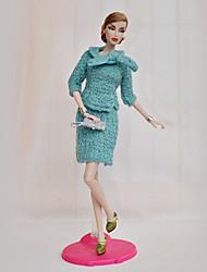 Недорогие -Платье куклы Кукольный наряд На каждый день Для Barbie Сукно Полиэстер Искусственная шерсть Юбки / Кофты / Сумки Для Девичий игрушки куклы