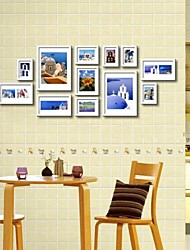 White Photo Wall Frame Collection Set of 12