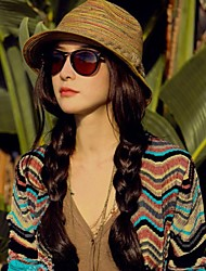 cheap -Women's Straw Straw Hat,Casual Solid Summer Camel