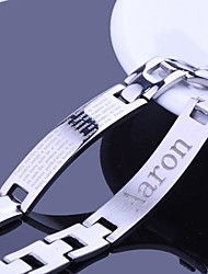 cheap -Personalized Gift Bracelets Stainless Steel Men's Business Classic Lovers Holiday Gift
