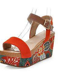 Mulheres Sapatos Camurça Primavera Verão Plataforma Creepers para Social Preto Verde Laranja