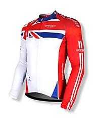 Недорогие -SPAKCT Велокофты Муж. Длинный рукав Велоспорт Джерси Верхняя часть Одежда для велоспорта Сохраняет тепло Быстровысыхающий Передняямолния