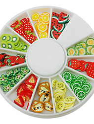 cheap -12-Color Fruit Design Polymer Nail Art Decoration
