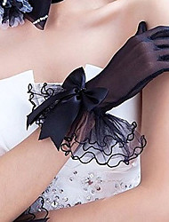 cheap -Tulle Polyester Wrist Length Glove Classical Bridal Gloves Party/ Evening Gloves With Solid