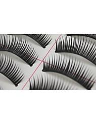 Недорогие -10 пар Pro Высокое качество, ручная синтетического волокна волосы Густые Длинные Стиль Накладные ресницы
