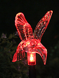 Solar Color-Changing Hummingbird Garden Stake Light (CSS-57326)