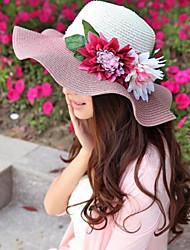 Women Straw Floppy Hat , Casual Summer