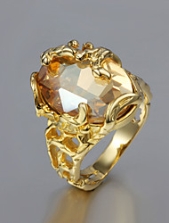 cheap -Women's Statement Ring - Gold Plated, 18K Gold Fashion 6 / 7 / 8 For Wedding / Party / Gift / Cubic Zirconia