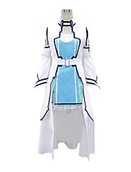 cheap -Inspired by Sword Art Online Asuna Yuuki Anime Cosplay Costumes Cosplay Suits Patchwork Vest / Dress / Sleeves For Women's Halloween Costumes