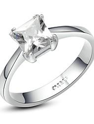 preiswerte -Damen Kristall Krystall / vergoldet / Diamantimitate Statement-Ring - Quadratisch / Geometrische Form Ring Für Hochzeit / Party / Normal