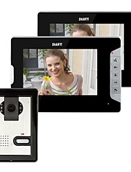cheap -7 Inch Video Door Phone Doorbell Intercom Kit 1-camera 2-monitor Night Vision